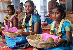 Kanya Pooja and Dress Donation