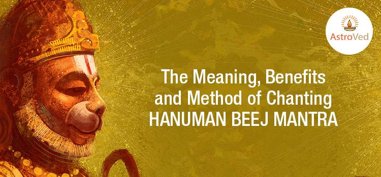 Chanting Hanuman Beej Mantra