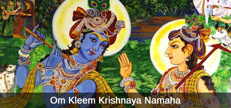 Om Kleem Krishnaya Namaha
