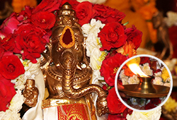 Archana (Pooja) to Ganesha at Achirupakkam Powerspot