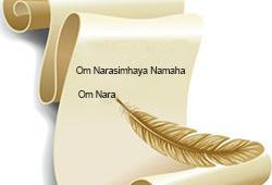 Om Narasimhaya Namaha