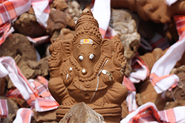 Sacrificial Clay Ganesha for Karma Removal