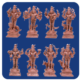 Energized Ashta Bhairava Statue Set