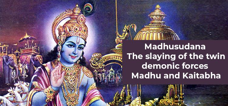 the slaying of madhu and kaitabha