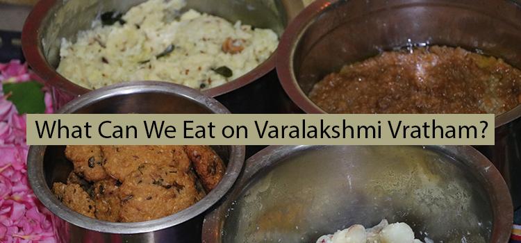 what can we eat on varalakshmi vratham